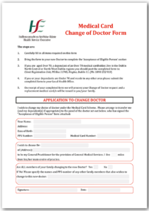 Change of Doctor